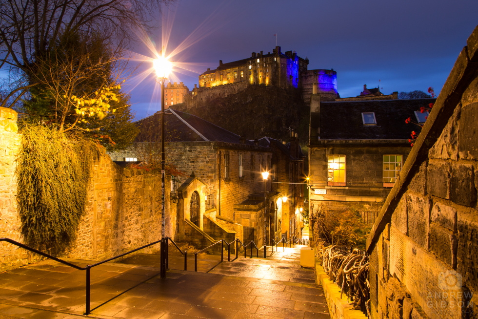Blue Hour at Edinburgh Castle