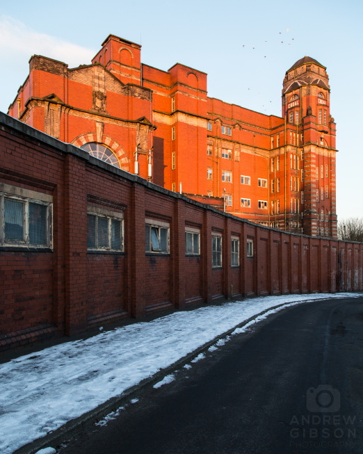Sunrise over Croal Mill, Bolton