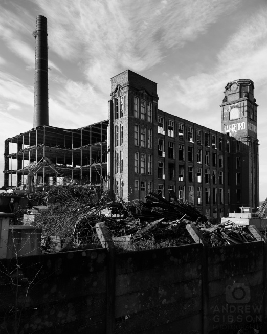 Hartford Mill demolition - north east portrait