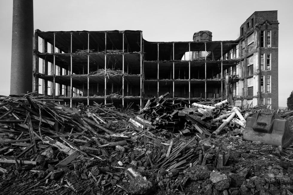 Hartford Mill demolition - south east profile