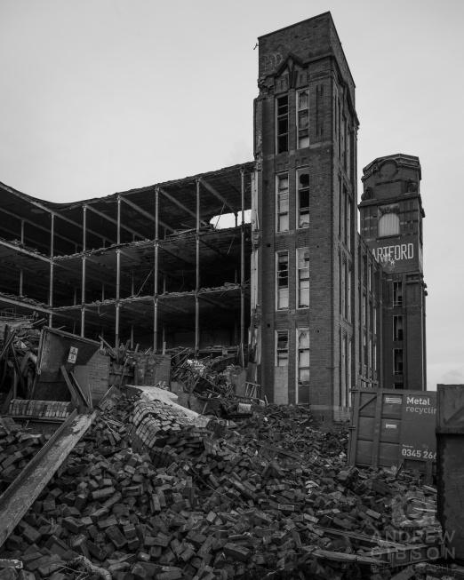 Hartford Mill demolition - east view